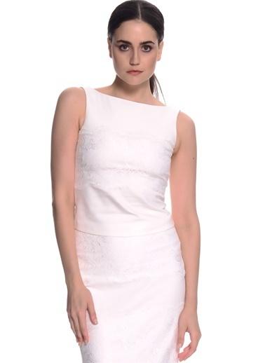 House Of Camellia Bluz Beyaz